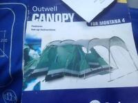 Outwell tent canopy. Fits Montana, Nebraska etc