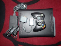 Xbox 360 Elite 60Gb HDD MS, with cables and controller, working well, including choice of one game