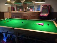 3/4 Size Slate Bed Snooker Table - Bar also available for extra cost