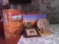 The Glory of Ancient Egypt-various matching items-folderto keep magazines in,desplay shelves,etc.