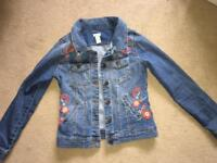 Monsoon embroidered denim jacket aged 11-12