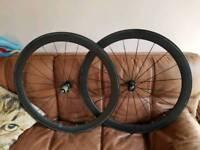 Carbon road bike wheel set