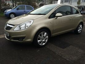 2009 VAUXHALL CORSA DESIGN 1.3 CDTI ECOFLEX DIESEL 3dr Hatchback,GOLD Color, One Owner,SH,Alloys,A/C