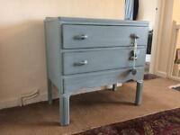 Nice 2 drawer bedroom dresser , finished in Farrow & Ball paint