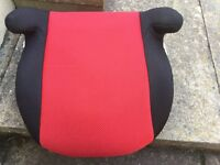 Used red/black booster seat