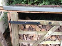 Large wooden gates in good condition.