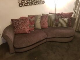 4 seater grey sofa and single seat