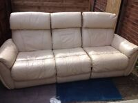 Leather suite ( free local delivery)