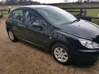 Peugeot 307 low mileage 5 door hatch cheap car Kent