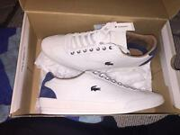 Size 10! Lacoste Misano 34 srm white leather and suede