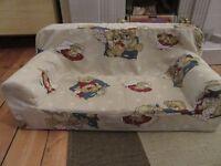 Kids Children's Comfy Foam 2 Seater Mini Sofa