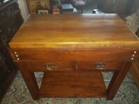 BUTCHERS BLOCK STYLE KITCHEN UNIT/ISLAND SOLID WOOD & CHUNKY (NO WOODWORM)
