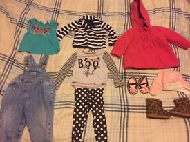 Lovely bundle of girls clothes 12-18 months