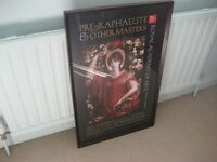 Glass Framed Print of a Pre-Raphaelite painting from The Royal Academy of Art. Make An Offer!!