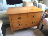 Varnished Pine TV Cabinet for sale  Devon