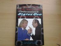 "Hardback Book, STATUS QUO "" JUST FOR THE RECORD""."