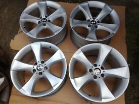 "BMW X6 20"" 259 M SPORT 5 STAR SPOKE ALLOY WHEELS E71 E72"