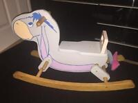 Wooden Disney eeyore rocker