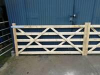 For sale 5 bar wooden gates