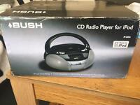 Bush CD radio player (boombox) for iPod