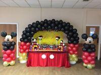 Mickey Cake Table & Balloon Arch - Soft Play - Bouncy Castle