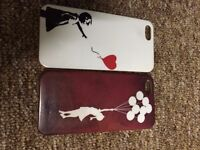 iPhone 5, 5S 2 x Banksy Balloon Girls Covers