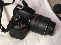 Hadly used Nikon D3200 Digital SLR Camera with 18-55mm VR Lens Kit + BAG+MICROPHONE+ACCESSORIES!!!