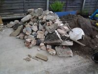Brick & concrete rubble from garage base, free but must be collected
