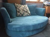 Turquoise cuddle sofa for sale!