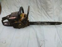 JCB chainsaw spares or repair. Good engine but needs pull cord and clutch