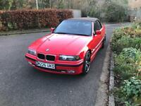 1995 bmw e36 convertible 318i automatic valid mot service record Xmas bargain classic hellrot red