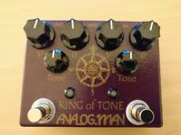 Analogman King of Tone v4 - high gain red, 4 output jacks