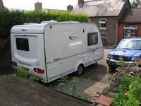Coachman 380/2 Caravan 2007 Model complete with Motor Mover & Ventura Awning. Excellent Condition