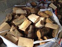Dry seasoned hardwood firewood