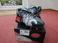 Canterbury Rugby boots for sale. Boxed and unused. UK Size 7