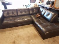 Leather Corner Sofa - Mint Condition