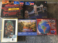 Various jigsaw puzzles 2D and 3D