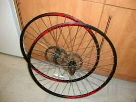 A set of specialized stout 29 inch Mountain bike wheels