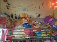 Childs single bunk bed - inc mattress