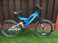 """Boys 20"""" bike like new with full suspension can deliver for a small charge"""