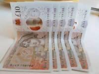 New ten pound notes