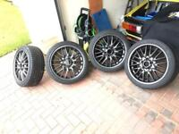 BMW MV1 Alloys with top Winter Tyres