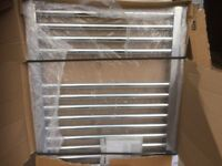 BRAND NEW ( OPENED FOR IMAGES ) FLAT CHROME TOWEL RADIATOR 760 X 600MM PERFECT CONDITION £70