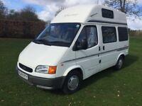 Devon discovery ford transit camper van 2 berth 66000 miles petrol 10 month mot cassette toilet