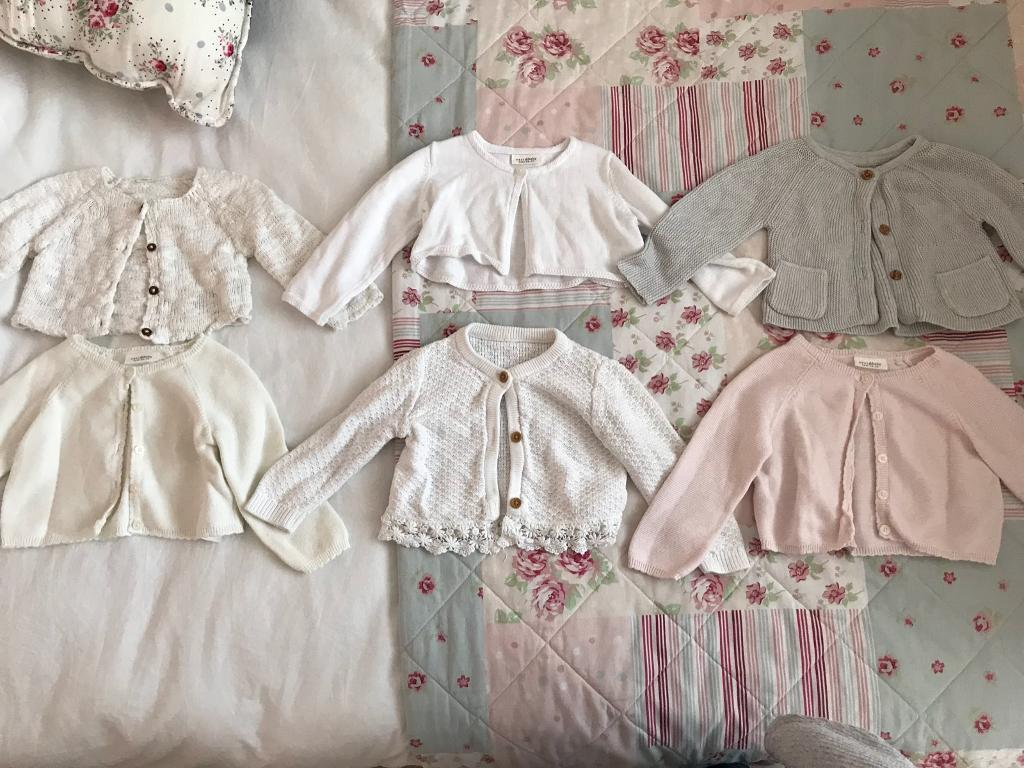 bb253b933 6 X 6 9 Months Baby Girls Cardigans All In Good Condition  )