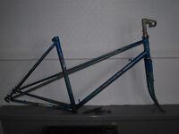 Vintage 1980s Raleigh Wisp 51cm Ladies Mixte frame & forks - STUCK STEM!