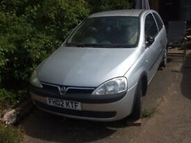 Vauxhall Corsa for spares