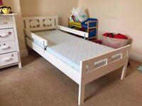 IKEA KRITTER toddler bed with VYSSA VINKA mattress (Excellent Condion)