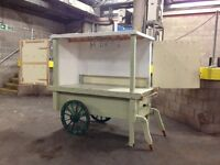 Retail Display, Solid Wood Barrow with electric lights, ideal for florist etc