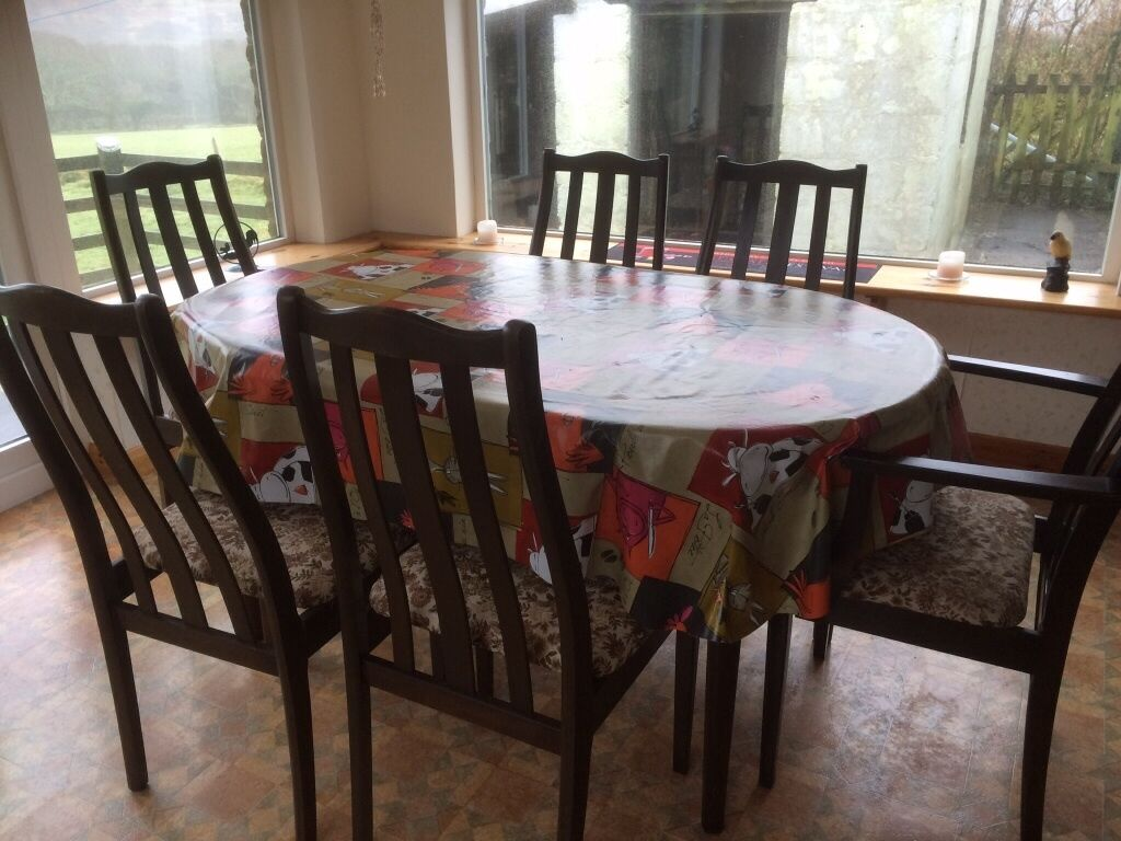 Dark wood dining table and chairs Upcycle in Bodmin  : 86 from www.gumtree.com size 1024 x 768 jpeg 113kB